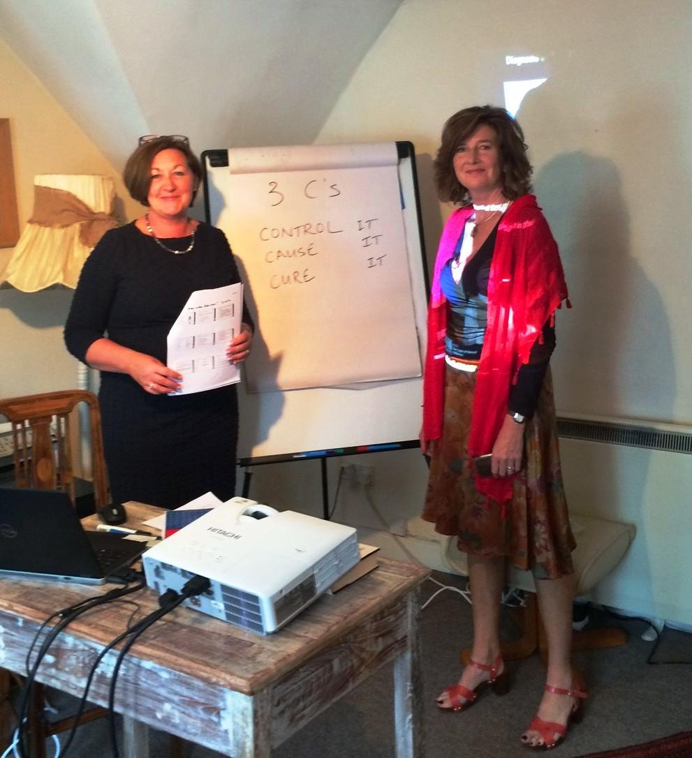 Karen Lloyd with Wendy Bramham